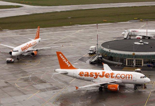 Aviones de la linea aérea Easyjet