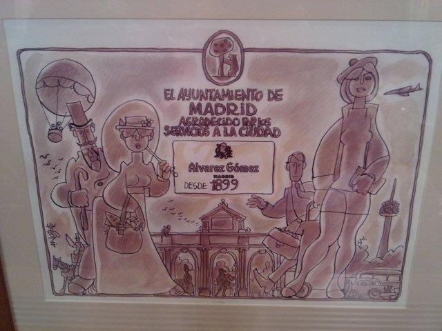 Placa que se entrega a los comercios centenarios