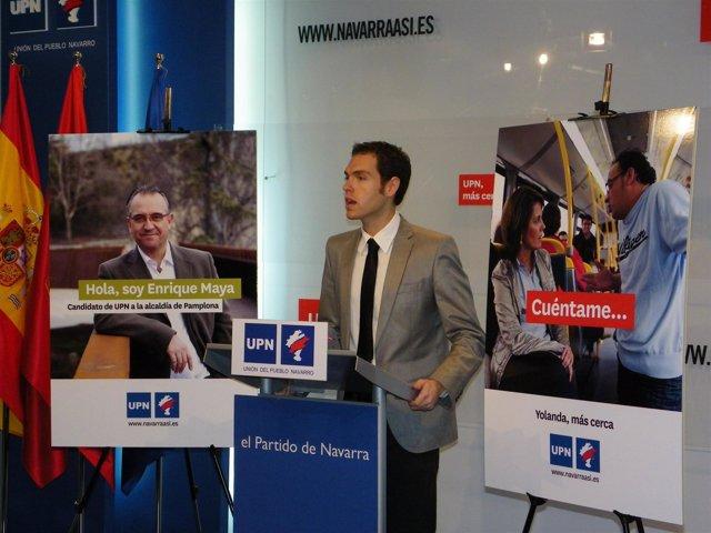 Secretario de Comunicación de UPN, Sergio Sayas.
