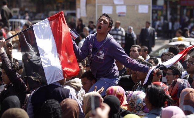 Protestas en Egipto en la plaza Tahrir