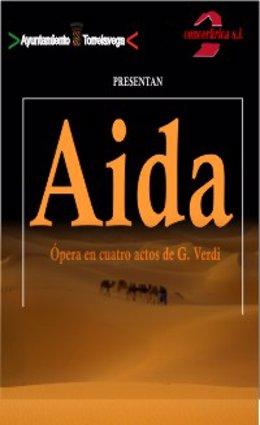 Cartel de la ópera Aída