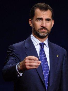 El príncipe Felipe de Borbón y Grecia