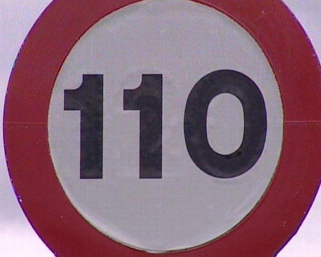 Colocada a modo de prueba una señal de 110 km/h