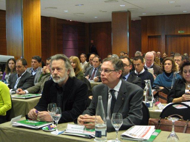 : El delegado provincial de Agricultura en Almería, Juan Deus, y el presidente d