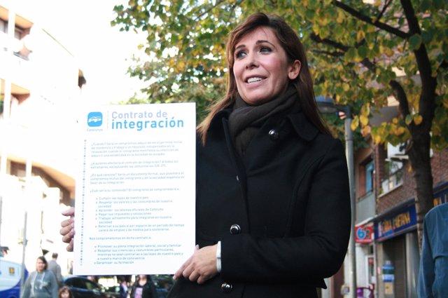 La presidenta del PP catalán, Alicia Sánchez Camacho