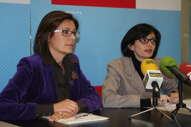 Iolanda Veloso y Carme Adán (BNG)
