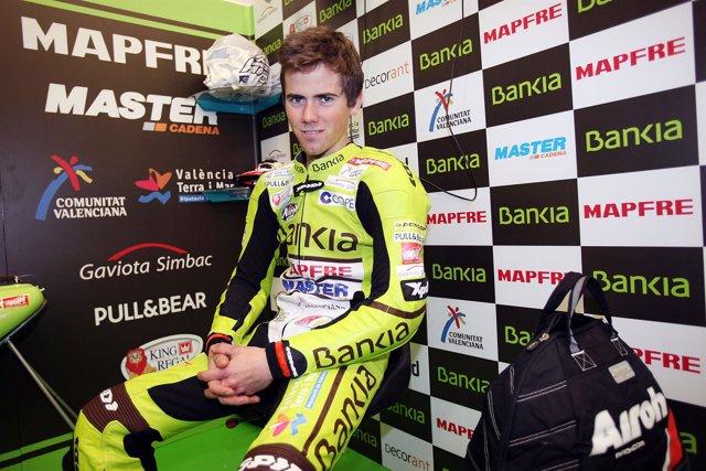 El piloto del Bankia Aspar, Nico Terol (Aprilia)