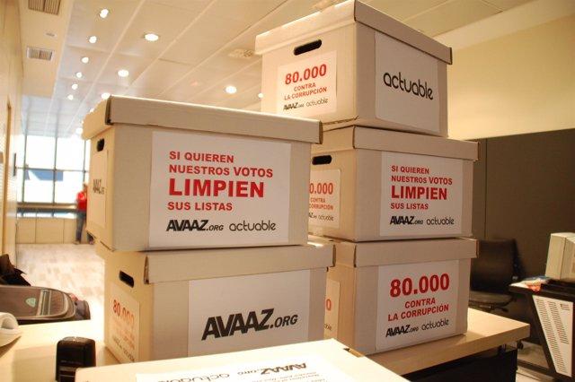 Más de 80.000 ciudadanos han enviado un mensaje anticorrupción