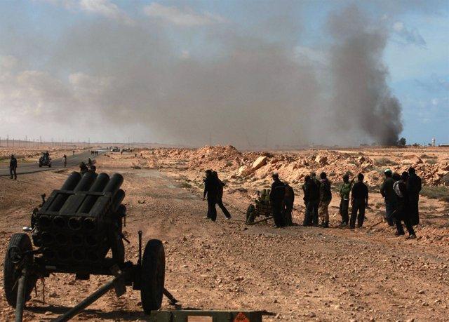 Enfrentamientos en Libia