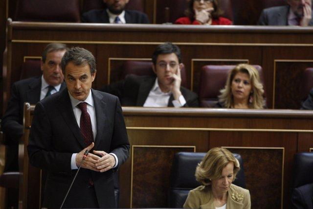 Zapatero y Salgado en el Pleno del Congreso