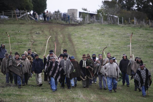 Campesinos mapuches en Chile