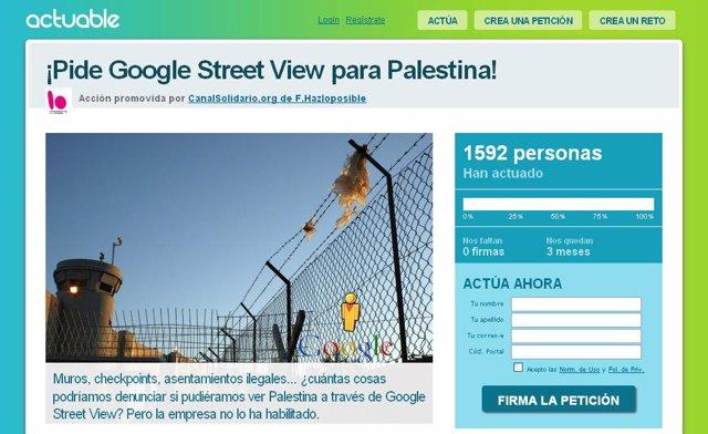 Página web de la ONG Actuable