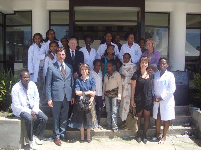 Inauguración del centro de salud Saint Gabriel Health Center, en Etiopía