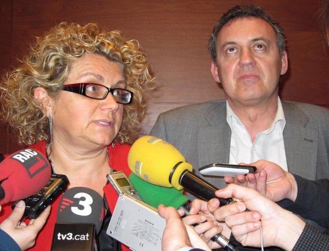 Los diputados del PSC Marina Geli y Josep Maria Sabaté