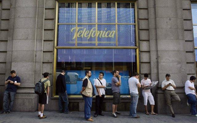 Fachada de Telefónica en Madrid
