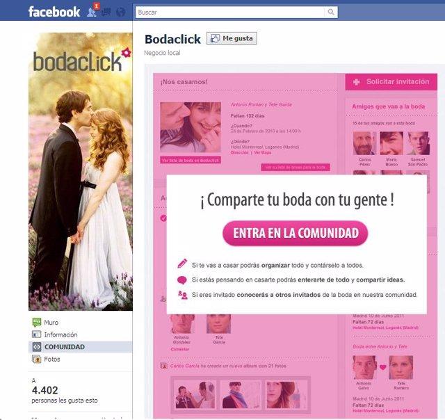 Bodaclick en Facebook