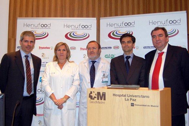 presentación de Henufood en el Hospital La Paz