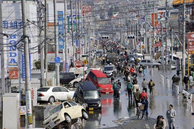 Ciudad de Miyagi, en Japón, tras el terremoto