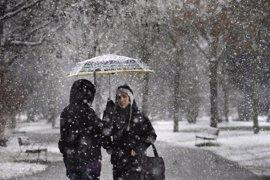 Alerta de nevada en la Sierra de 6 a 21 horas de hoy con hasta 8 centímetros de nieve acumulada
