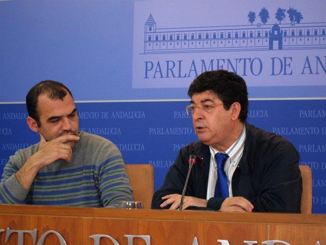 José Manuel Mariscal y Diego Valderas, este martes en rueda de prensa