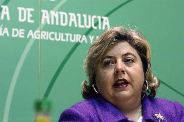 La consejera de Agricultura y Pesca, Clara Aguilera,