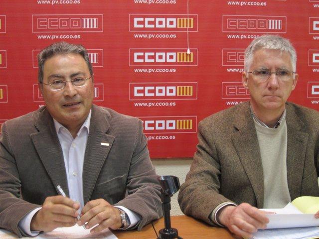 Paco Molina y Juan Martínez durante la rueda de prensa