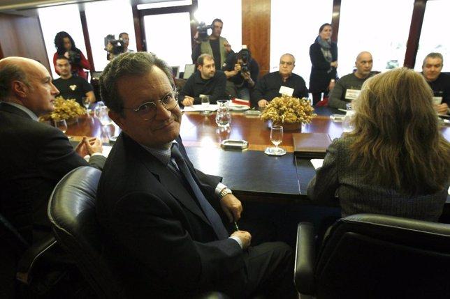 Lema (AENA) en la reunión con los sindicatos por la huelga