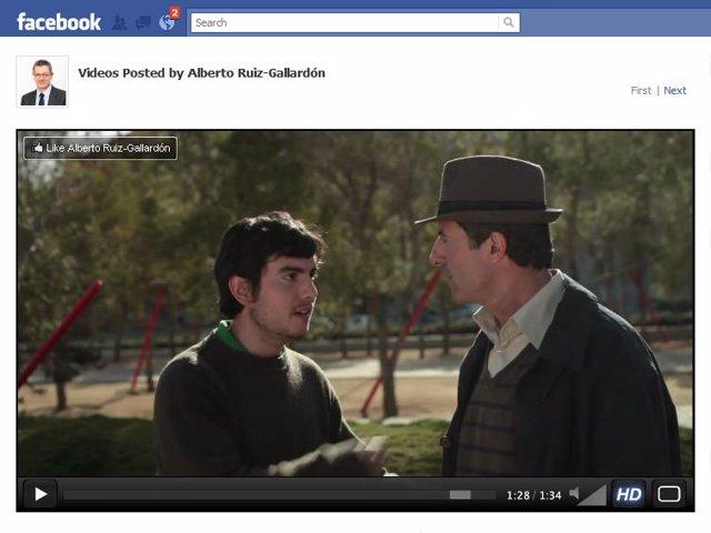 Imagen del vídeo de Gallardón en Facebook