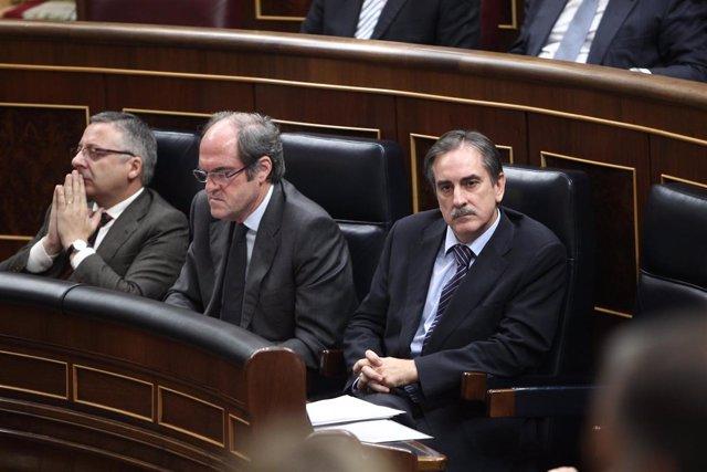 Banco, Gabilondo y Gómez en el Congreso