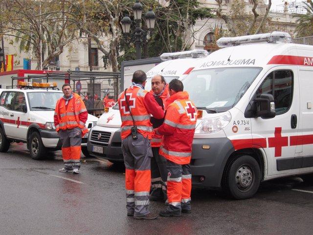 Dispositivo Cruz Roja en Fallas