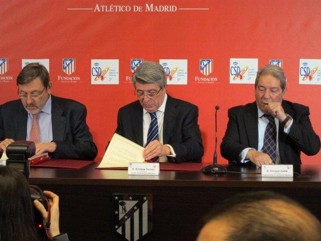 Firma acuerdo Atlético de Madrid y CSD