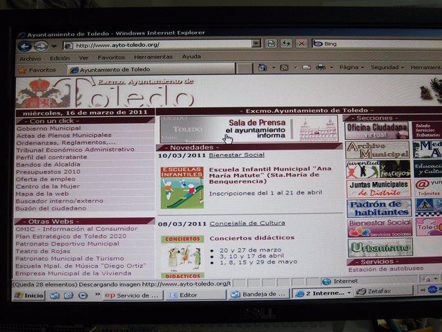 página web Ayuntamiento de Toledo