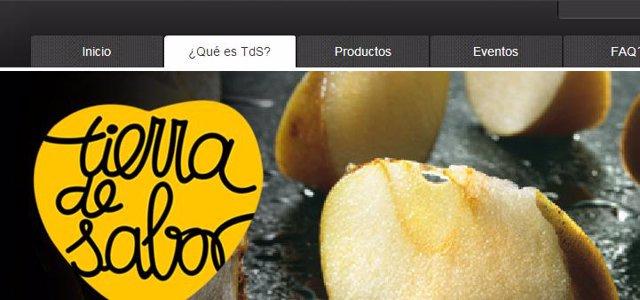 Web de Tierra de Sabor.