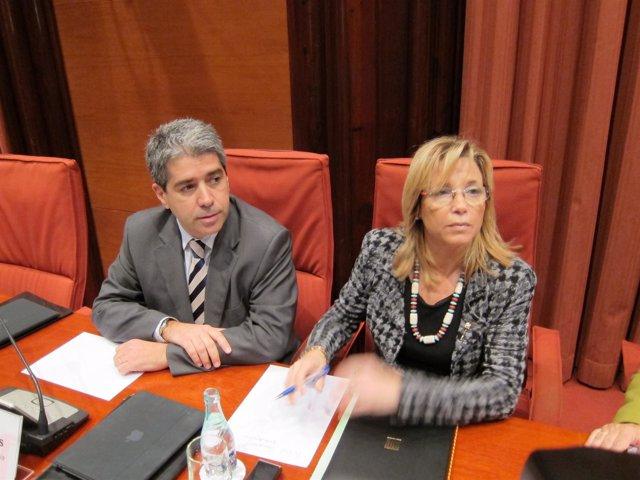 Joana Ortega, en el Parlament