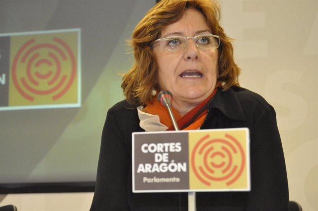 La consejera de Educación, María Victoria Broto