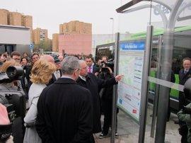 Arranca el nuevo intercambiador de buses en la Plaza de Alsacia, coincidiendo con la inauguración del Metro a Las Rosas