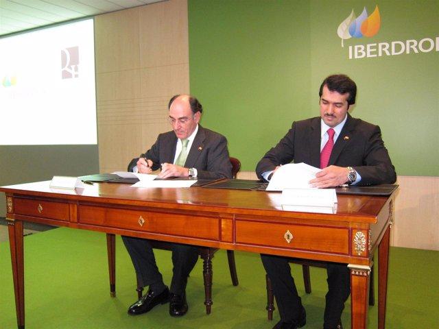 El presidente de Iberdrola, Ignacio Galán, con el CEO de consejero delegado del