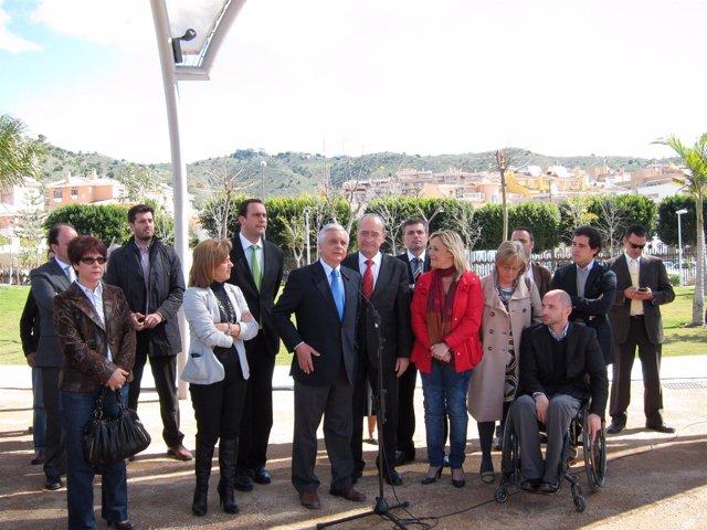 El subdelegado, Hilario López Luna, y el alcalde de Málaga, Francisco de la Torr