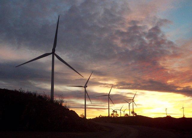 Parque eólico Los Lirios en el Complejo Eólico El Andévalo de Iberdrola en Huelv