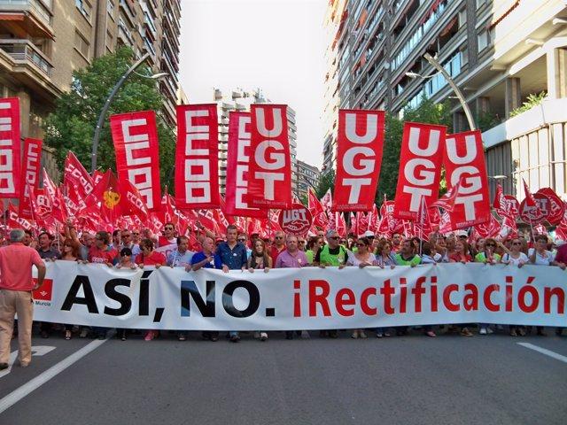 Manifestación de la huelga general