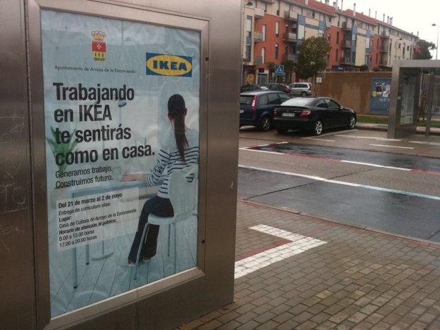 Anuncio del Ayuntamiento de Arroyo para la búsqueda de trabajadores en Ikea