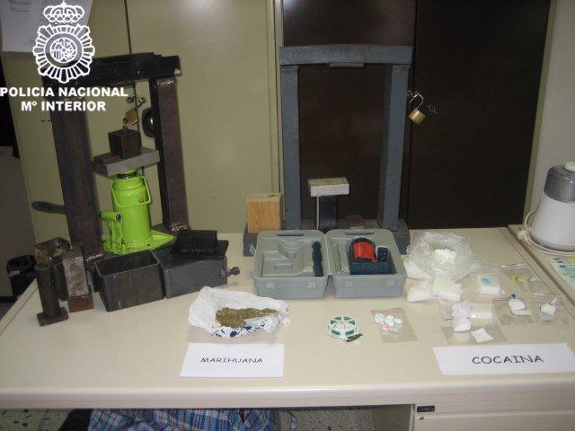Laboratorio de cocaína desarticulado en Valencia