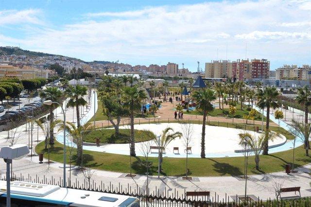 Vista del recién inaugurado parque La Alegría, en Ciudad Jardín