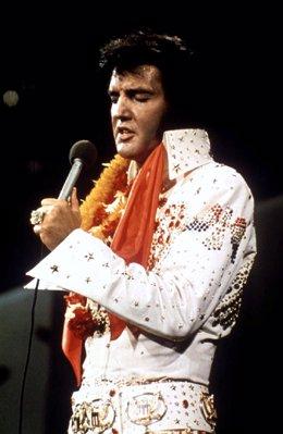 El cantante Elvis Presley