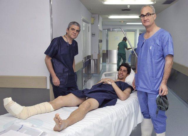 Juan Forlín, operado en el USP Hospital 'San Carlos' de Murcia