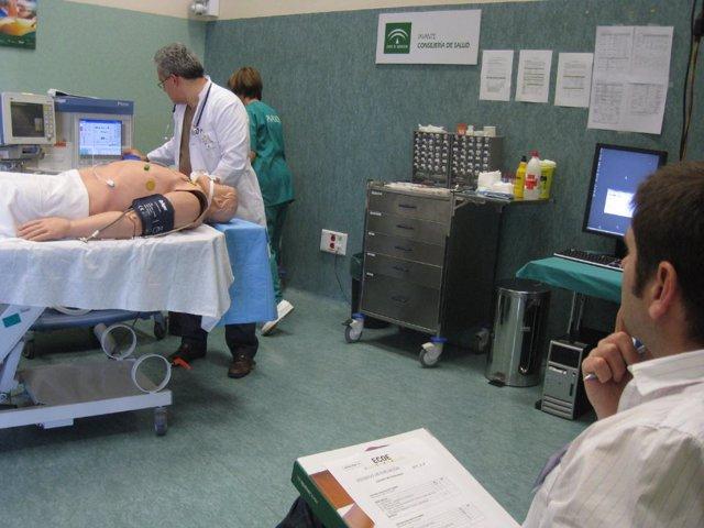 Pruebas de simulación médica con maniquis del IAVANTE