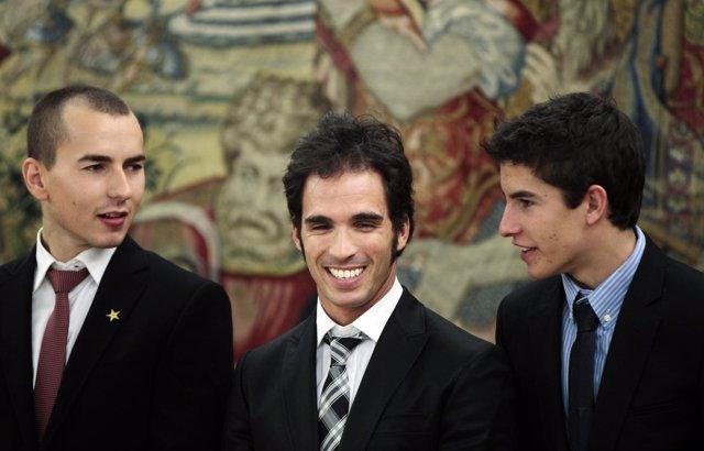 Lorenzo, Elías y Márquez, campeones del mundo de motociclismo