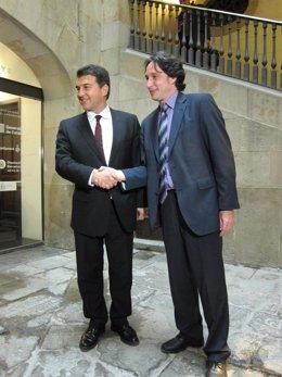 Joan Laporta y Jordi Portabella