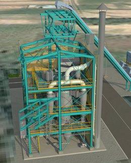 Tecnología de gasificación de biomasa de Inerco