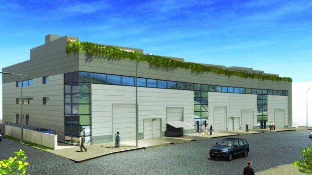 Imagen virtual del edificio acabado de oficinas de Ofertix en Sant Just Desvern